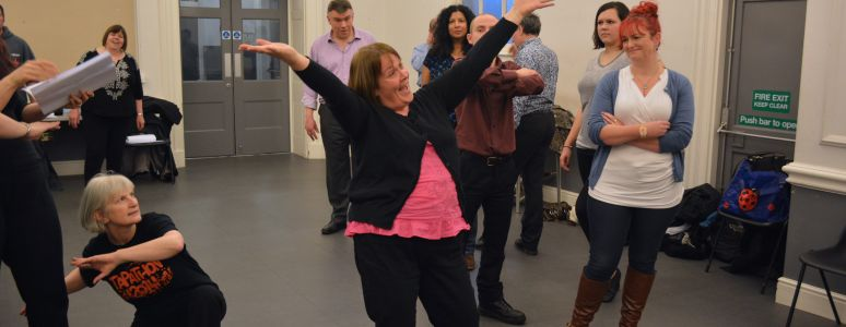 Aladdin - staff panto rehersal photos