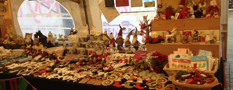 Christmas Arts and Craft fair stalls