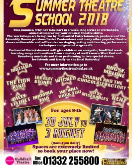 Summer Musical Theatre Workshops 2018