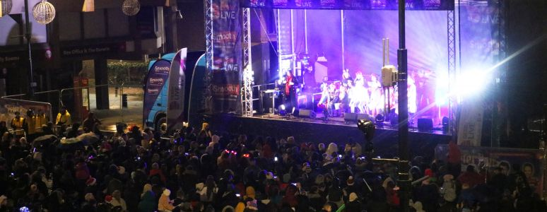 Derby Christmas Lights switch on 2019 main stage
