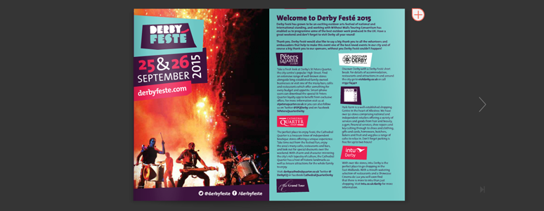 Derby Festé 2015 Programme. Derby City Centre. September 2015